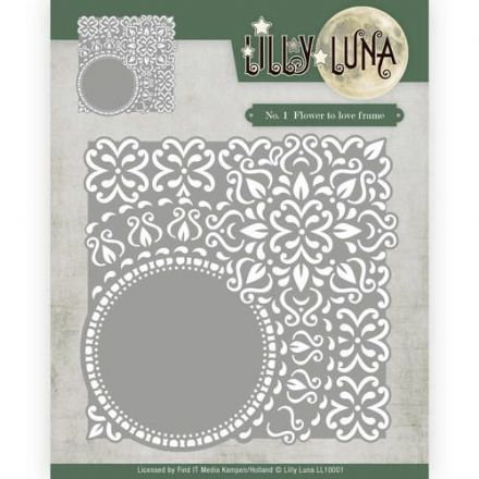 LL10001 ~  No 1 Flower of Love Frame DIE ~ Lilly Luna ~ Yvonne Creations